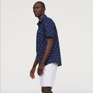 H&M Polka Dot Regular Fit Cotton Shirt